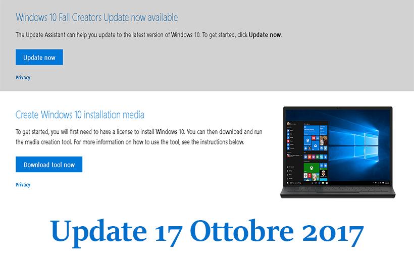 Novità e guida sull'aggiornamento di Windows 10 Fall Creators Update