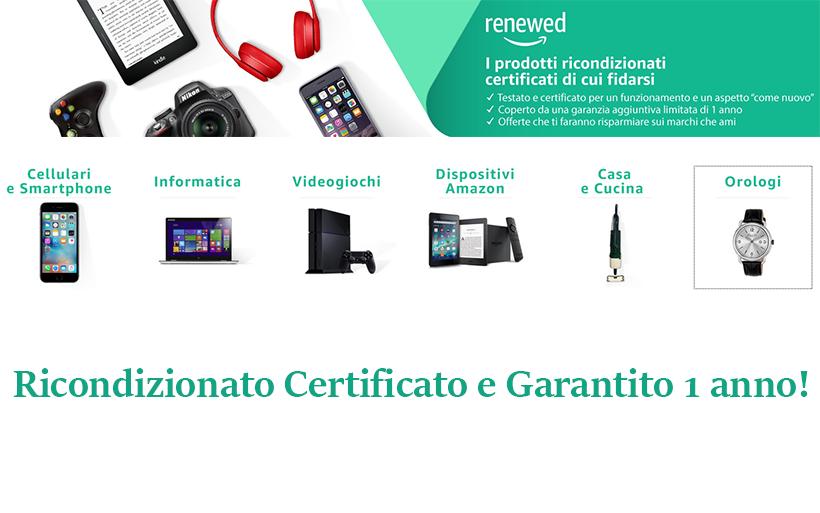 Ricondizionato certificato con 1 anno di garanzia: Amazon Renewed!