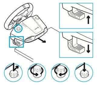 fissaggio-tavolo-G29-2-320x282 Recensione completa del Logitech G29 per PC, PS3 e PS4