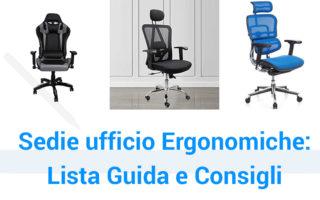 Le migliori sedie da ufficio ergonomiche, guida descrizioni e prezzi