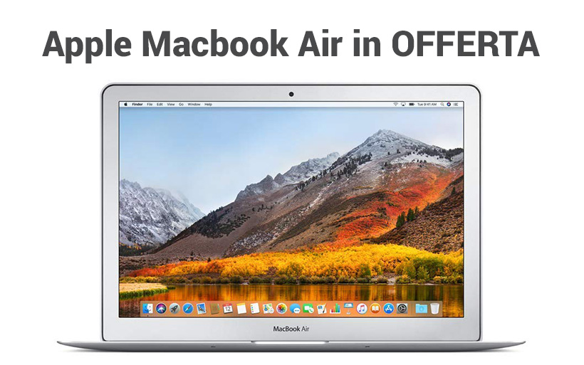Offerta Apple Macbook Air 13, 8 gb di ram e 128GB SSD