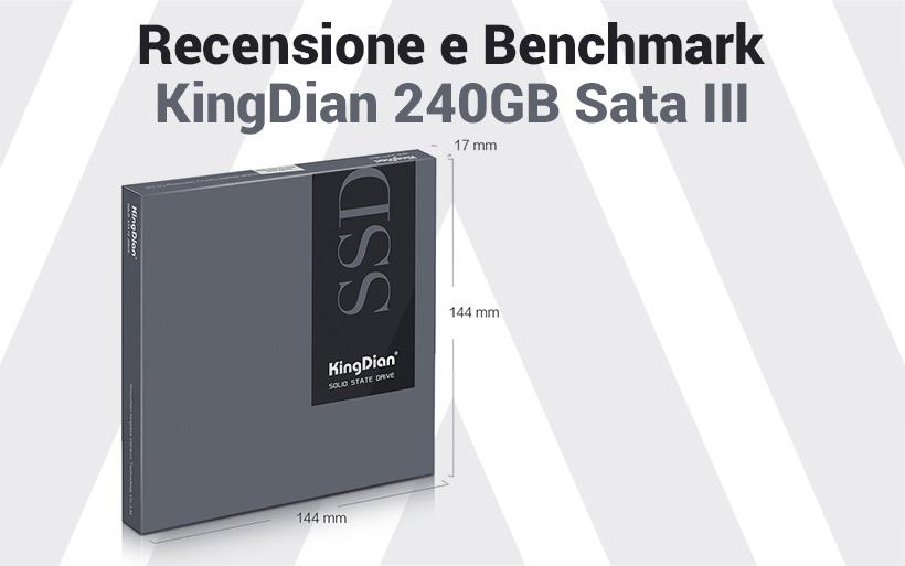 Recensione KingDian 240GB Sata III, l'ssd più economico