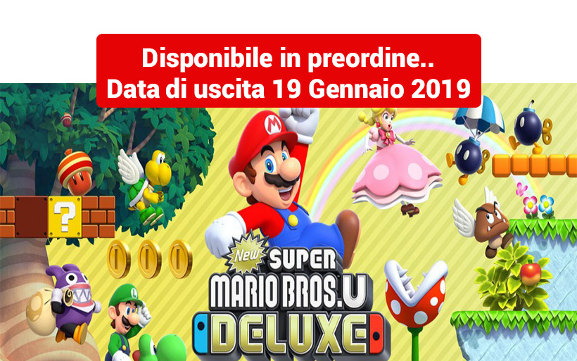 New Super Mario Bros U Deluxe, 164 livelli per giocare con la Switch