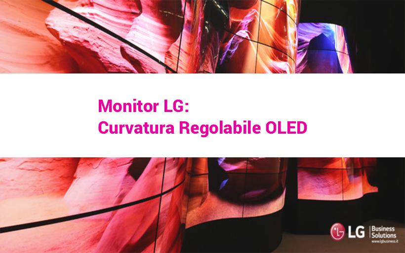 Rivoluzione Monitor a curvatura regolabile LG
