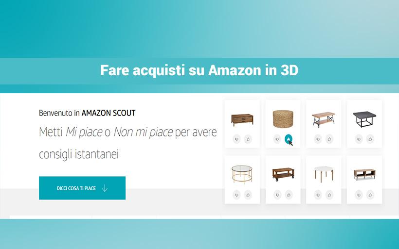 Shopping in 3D su Amazon: nuovi trucchi per gli acquisti