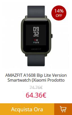 AMAZFIT-A1608-Bip-Lite Gearbest consegna veloce in 5 giorni! Tutti i prodotti spediti dall'Europa