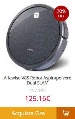 Alfawise-V8S-Robot-Aspirapolvere-Dual-SLAM- Gearbest consegna veloce in 5 giorni! Tutti i prodotti spediti dall'Europa