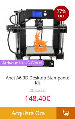 Anet-A6-3D-Desktop-Stampante-Kit Gearbest consegna veloce in 5 giorni! Tutti i prodotti spediti dall'Europa