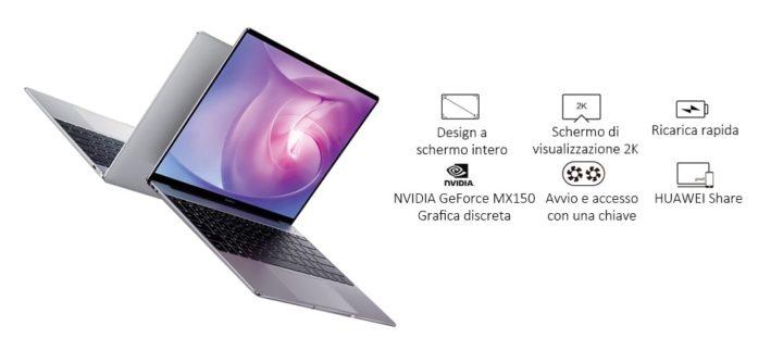 HUAWEI-MateBook-13.0-1-720x323 Huawei Matebook 13 a 707.99€ in offerta, Intel i5 8GB ram e 256GB ssd