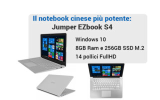Scheda tecnica Jumper EZbook S4, il nuovo notebook cinese