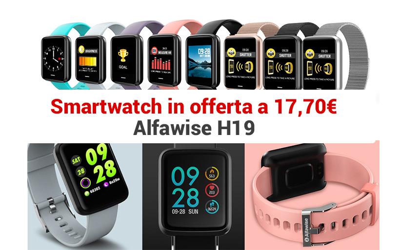 Smartwatch sportivo a 17,70€ in offerta, Alfawise H19