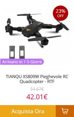 TIANQU-XS809W-Pieghevole-RC-Quadcopter-RTF Gearbest consegna veloce in 5 giorni! Tutti i prodotti spediti dall'Europa