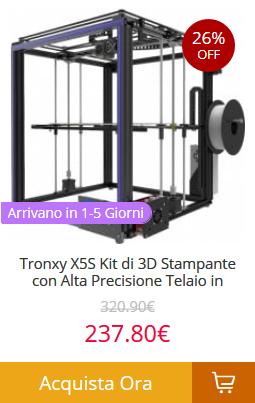 Tronxy-X5S-Kit-di-3D-Stampante-con-Alta-Precisione Gearbest consegna veloce in 5 giorni! Tutti i prodotti spediti dall'Europa