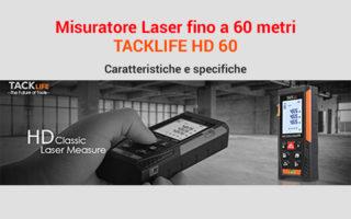 Misuratore laser 60 metri, TACKLIFE HD 60