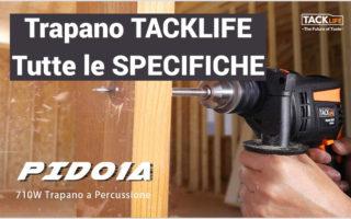 Specifiche Trapano a Percussione con 12 Accessori, TACKLIFE PID01A