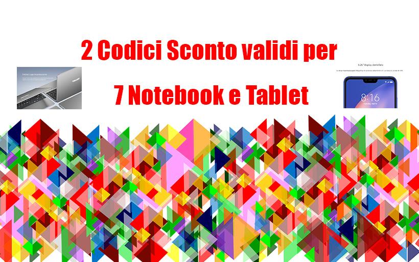 2 codici sconto Gearbest per 7 Notebook e Tablet da scoprire