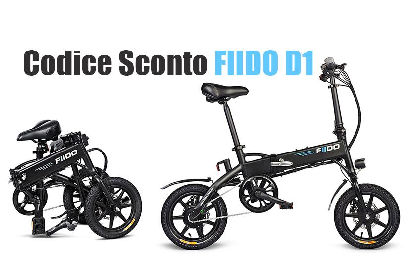 Bicicletta Elettrica Pieghevole a 355€, codice sconto per FIIDO D1