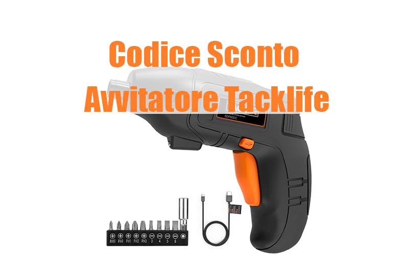 Codice Sconto Tacklife Avvitatore con 10 Accessori, 12.99€