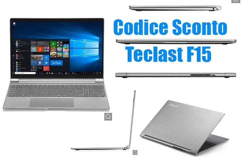 Codice Sconto Teclast F15 a 373€, 8GB ram-256GB SSD
