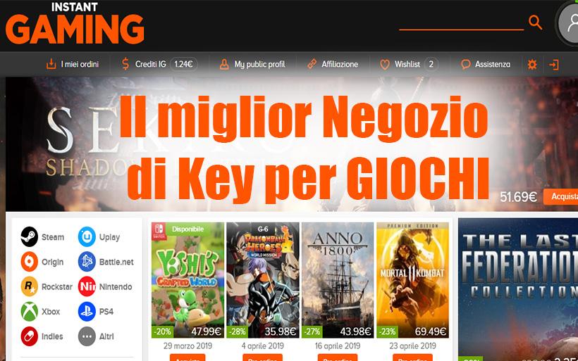 Il miglior sito di Key Giochi a prezzi BASSI, PC-PS4-Xbox-Nintendo