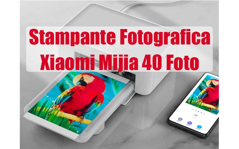 Offerta Stampante Fotografica Xiaomi Mijia WiFi, 40 Foto