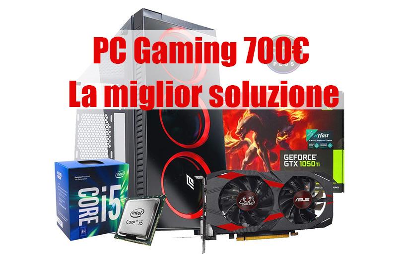 PC Gaming Fisso da 700€ e giocare senza Limiti, i5-GTX1050-8Gb Ram