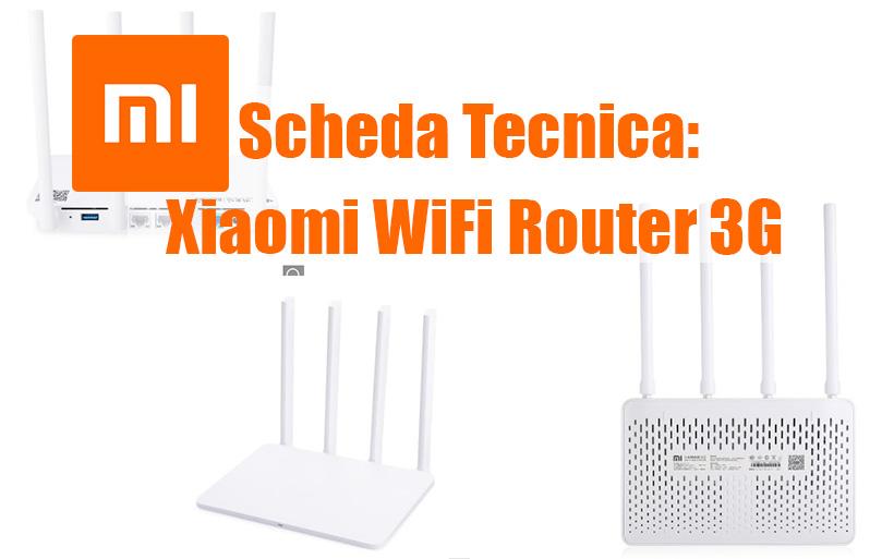 Scheda tecnica Xiaomi WiFi Router 3G, 2.4/5GHz + Gigabit Lan