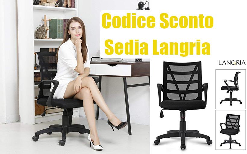 Sedia Ufficio LANGRIA a 38,99€ con codice sconto