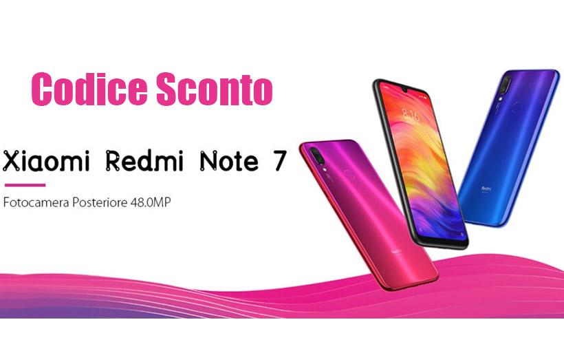 Codice Sconto Xiaomi Redmi Note 7 a 193€ su Gearbest