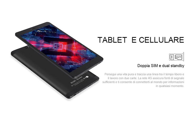 Offerta Tablet Android 135€, ALLDOCUBE X1 Dual Sim 4G
