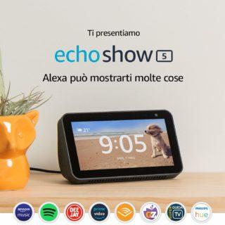 Echo-Show-5-7-320x320 Offerta Echo Show 5 a 89,99€ e acquistandone 2 risparmi 25 €