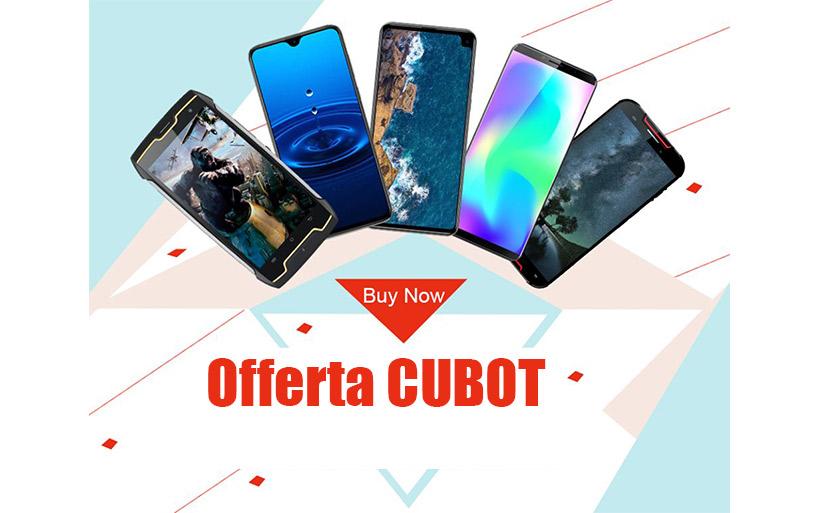 Offerta Maggio 2019, smartphone CUBOT al prezzo più basso di sempre