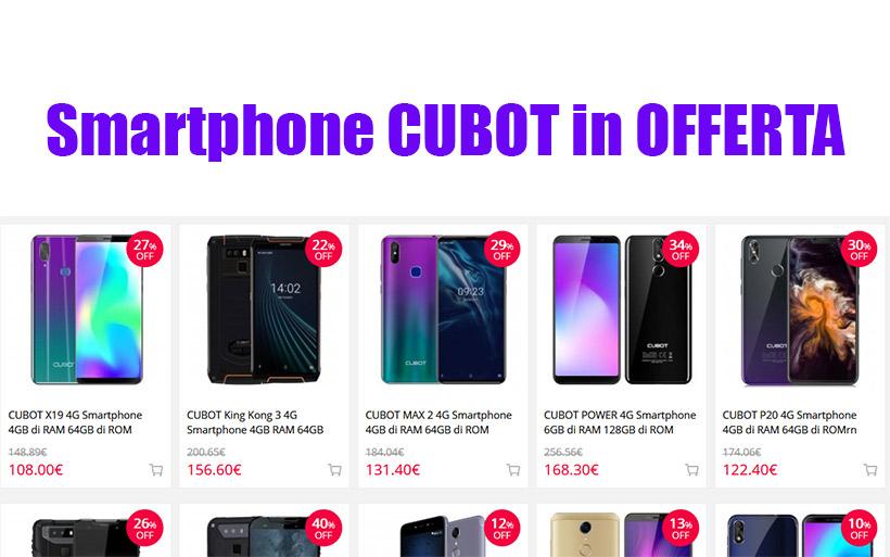 Smartphone CUBOT in Offerta -10%, miglior prezzo Gearbest con promo