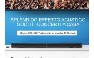 Soundbar Bluetooth in OFFERTA a 52€, Alfawise XBR con telecomando
