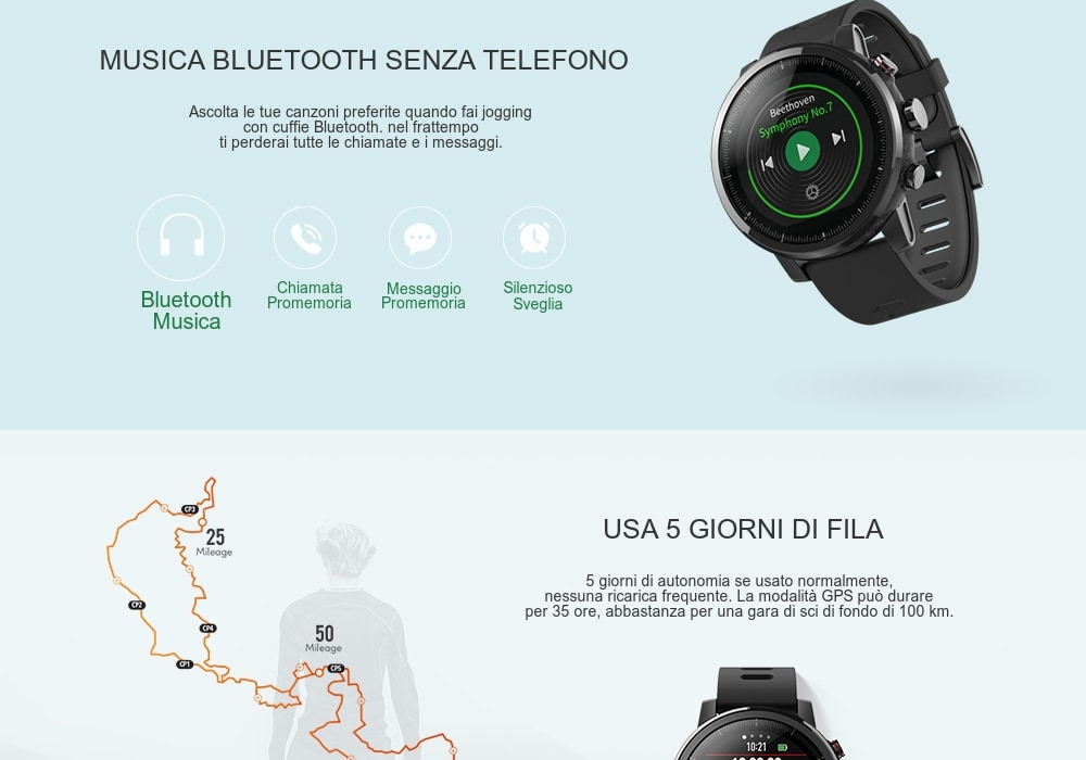 5 Smartwatch Sportivi in offerta -50%, Xiaomi Amazfit
