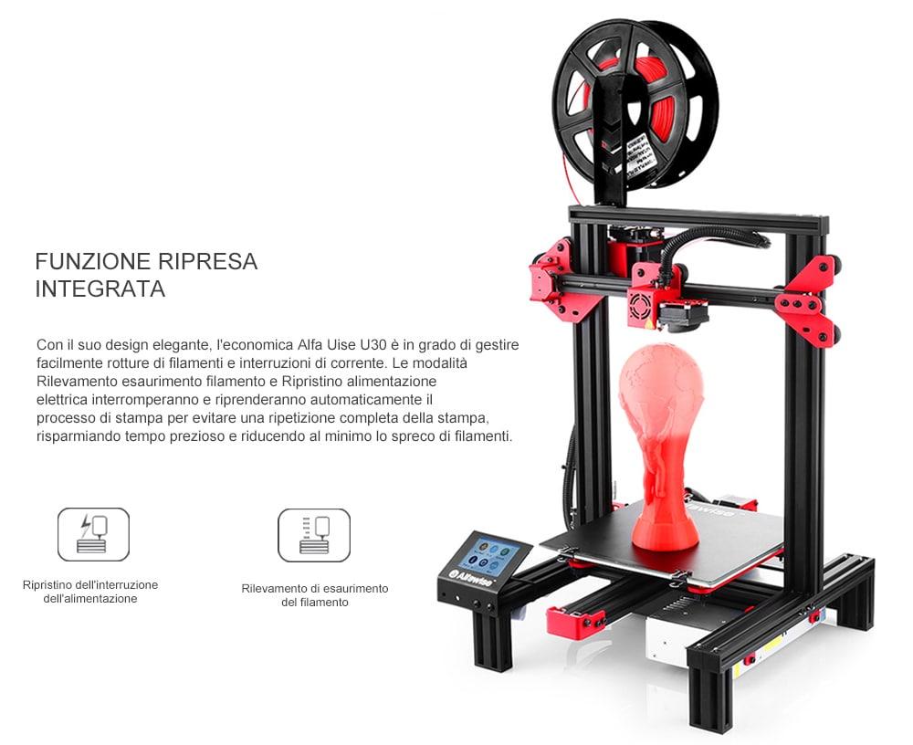 Stampante 3D Alfawise U30, in OFFERTA: 158.39€ con schermo Touch