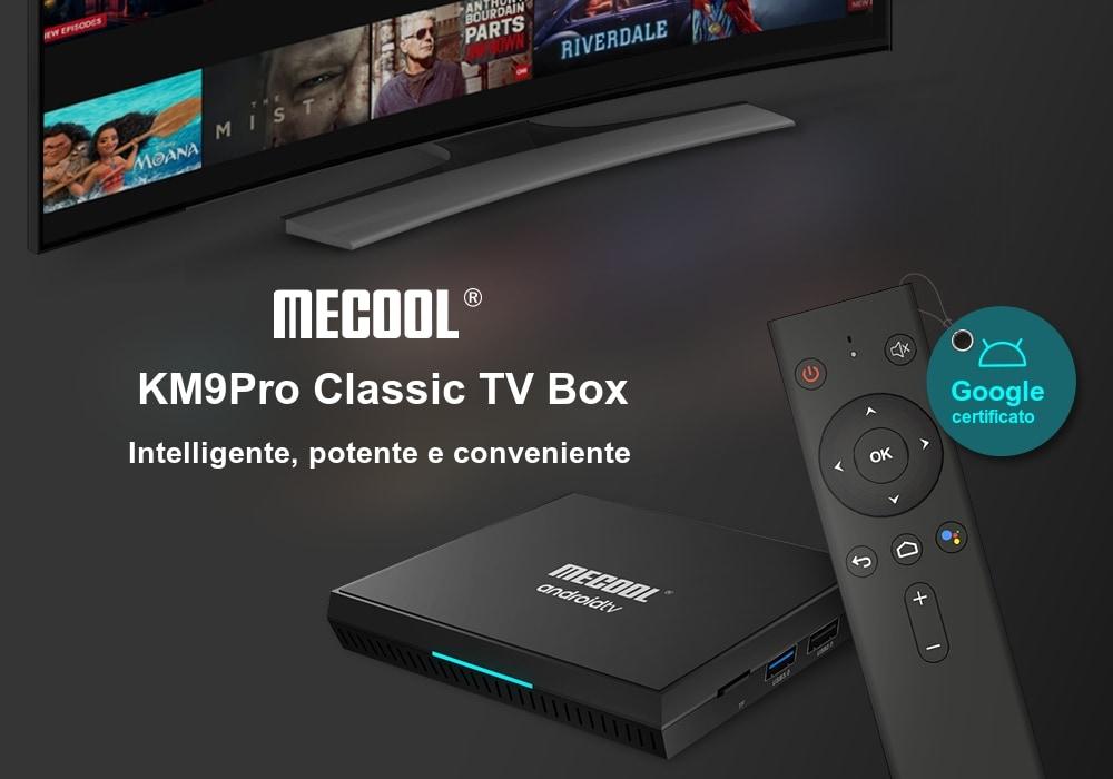 Scheda tecnica Mecool KM9Pro, Box TV Google