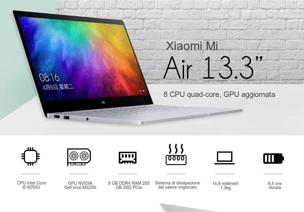 Miglior notebook in offerta 699€: Xiaomi Mi Air 2019 13,3 pollici