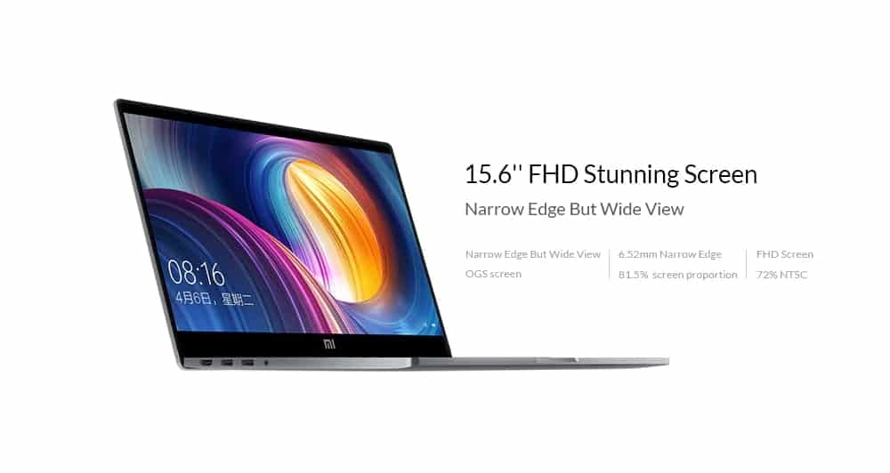 Offerta notebook Xiaomi Mi Pro 2019: solo 735€ con codice