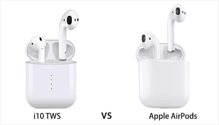 i10 TWS VS Apple AirPods: il clone contro la versione originale