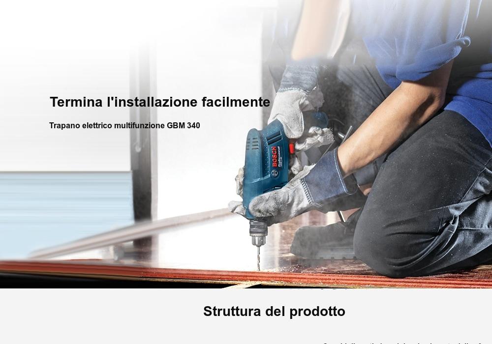 Trapano Bosh Professional in Offerta a 45€, 340w velocità regolabile