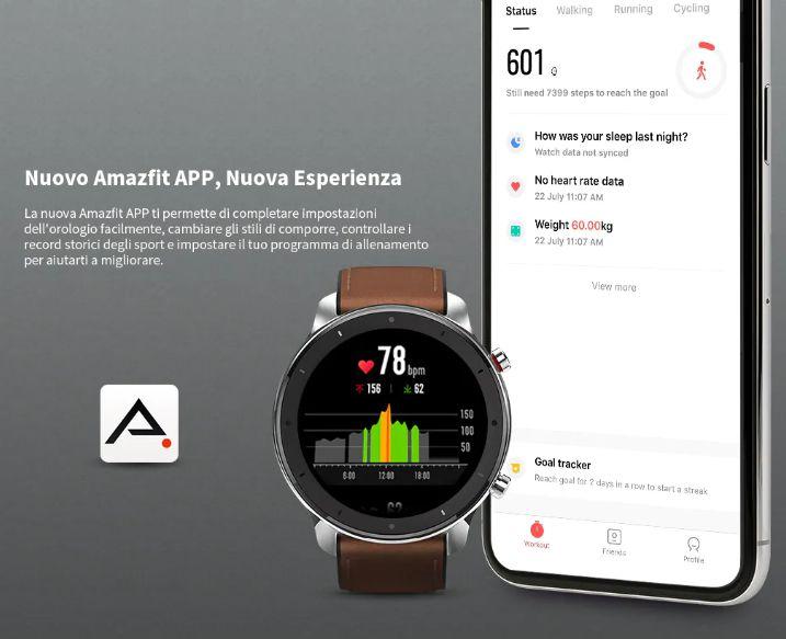 huami-amazfit-GTR-1 Amazfit GTR a 135€, il nuovo Smartwatch Huami, Dettagli e Specifiche