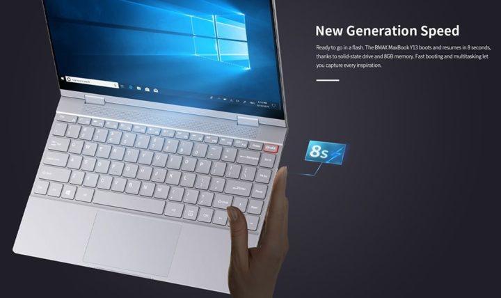 BMAX-Y13-10-720x428 Offerta notebook cinese BMAX Y13 a 327€, convertibile stile Yoga
