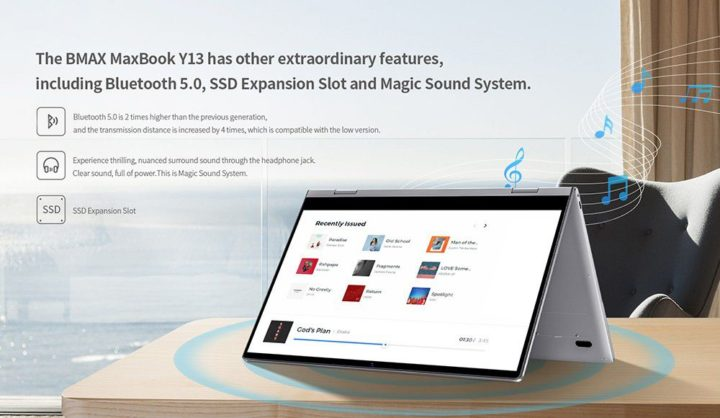 BMAX-Y13-13-720x418 Offerta notebook cinese BMAX Y13 a 327€, convertibile stile Yoga