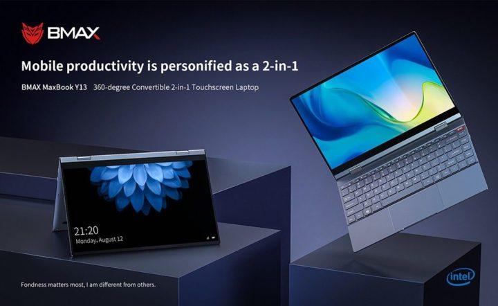 BMAX-Y13-2-720x442 Offerta notebook cinese BMAX Y13 a 327€, convertibile stile Yoga