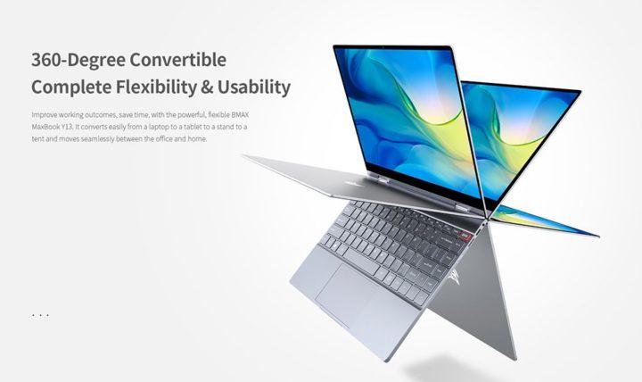 BMAX-Y13-7-720x428 Offerta notebook cinese BMAX Y13 a 327€, convertibile stile Yoga