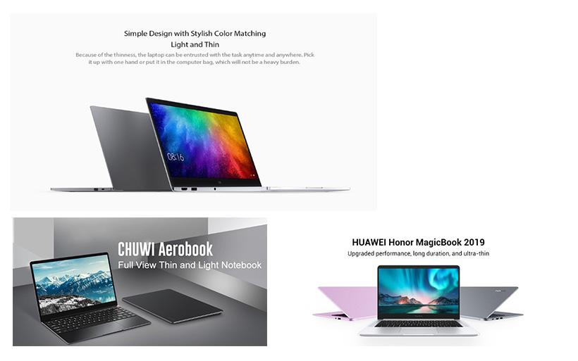 I migliori 8 notebook cinesi del 2019, fascia di prezzo 250€ – 800€