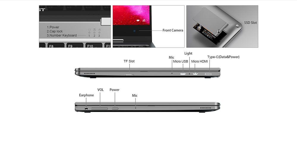 Teclast-F5R-11 Teclast F5R, convertibile 360°: Caratteristiche, Specifiche e Prezzo