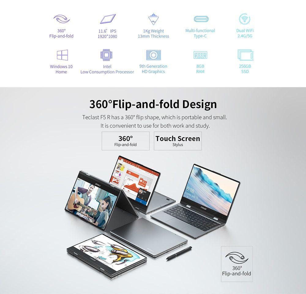 Teclast F5R, convertibile 360°: Caratteristiche, Specifiche e Prezzo
