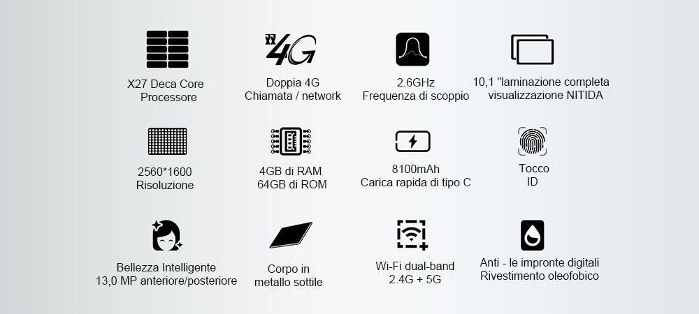 Teclast-T20-4 Teclast T20, il miglior tablet 4G Android ad un prezzo conveniente, tutte le specifiche